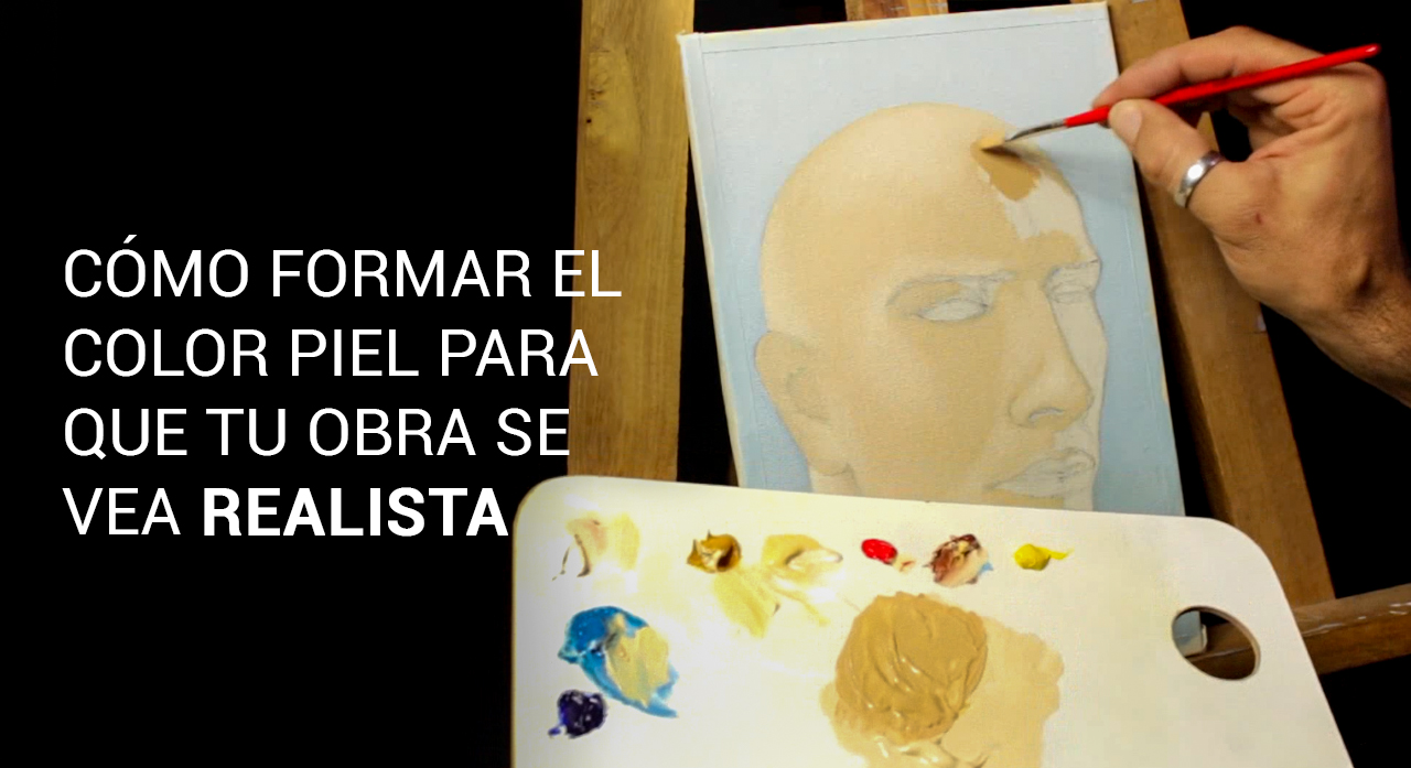 Mezcla color piel aprende a pintar con oleo - Mezcla de colores para pintar ...